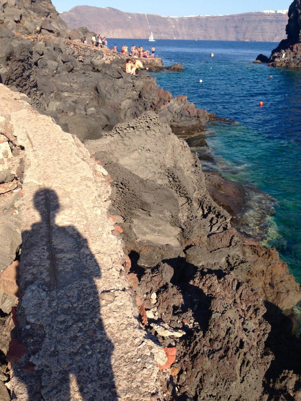 Amoudi Bay, Santorini. Petite Suitcase
