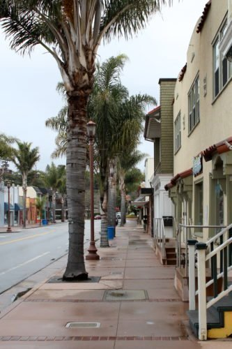 Boutiques in Capitola are a little quiet in the off-season.