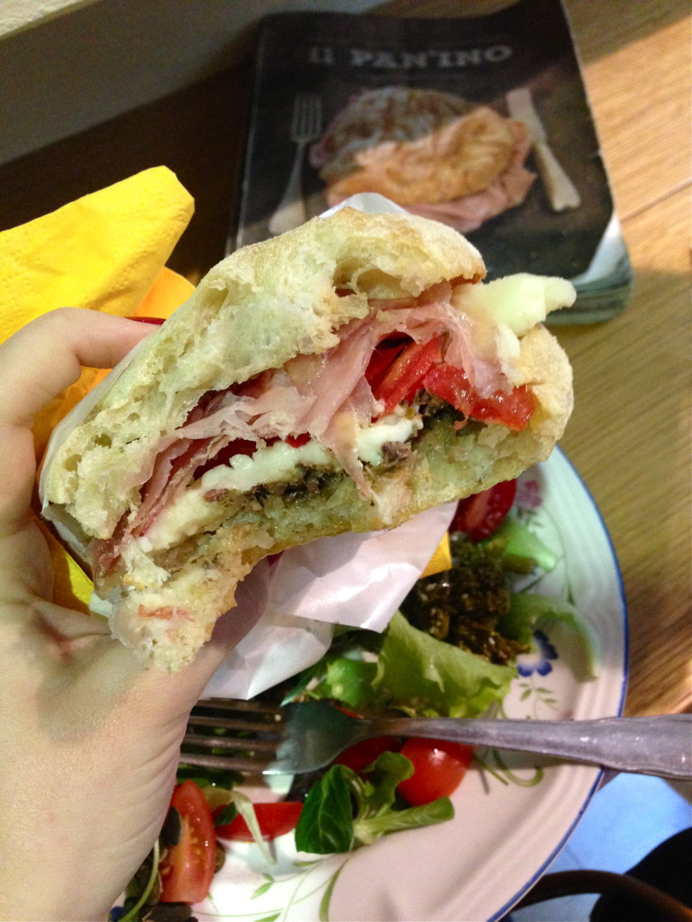 Panini from Ino's in Florence, Italy