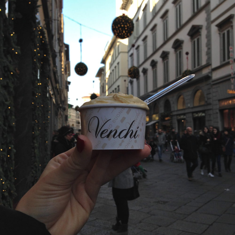 Venchi Salted Caramel Gelato during Christmas