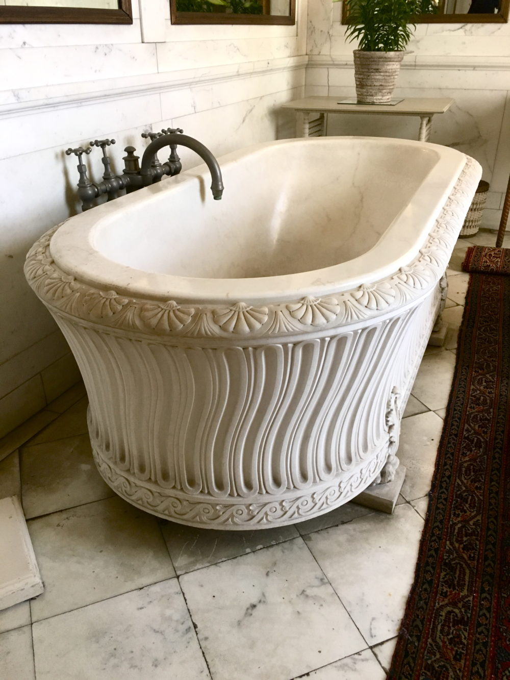 Marble bath- The Breakers Newport, RI