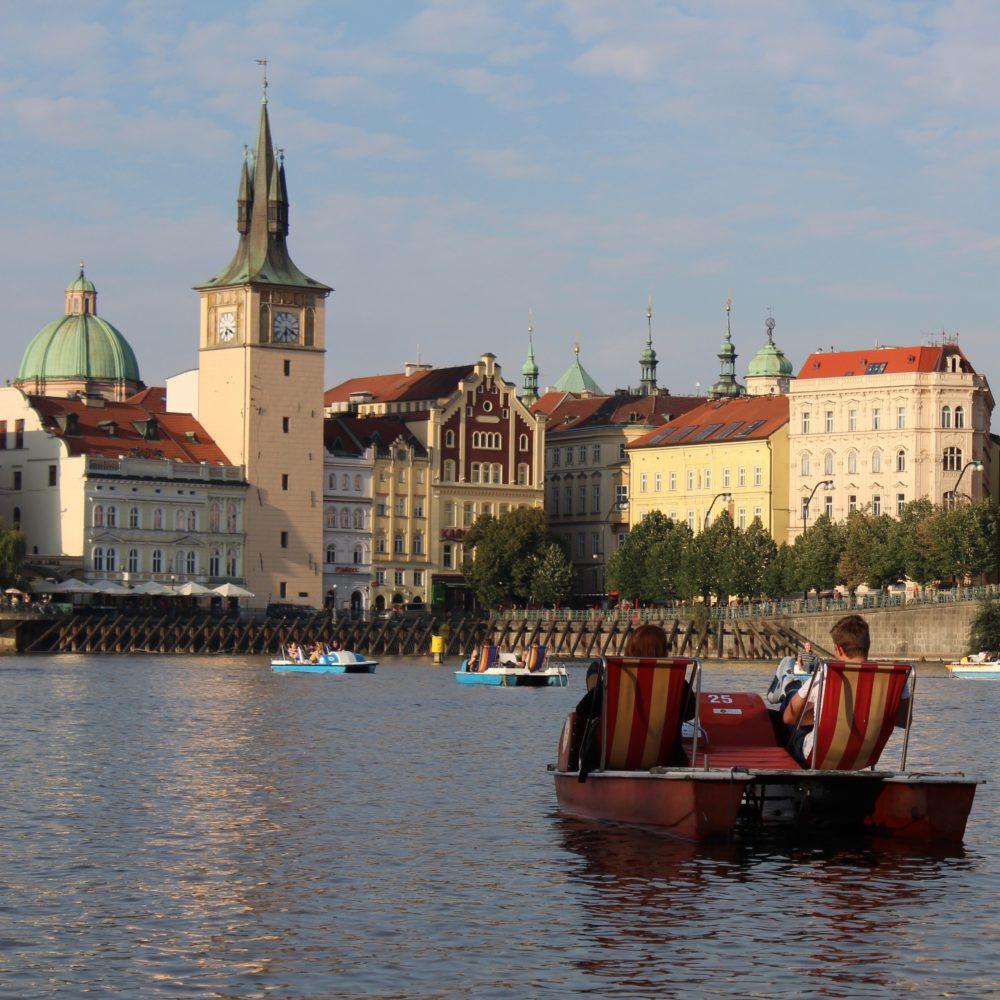 Pedal boating Prague