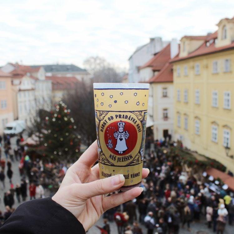 Prague Christmas Market. Mulled Wine.