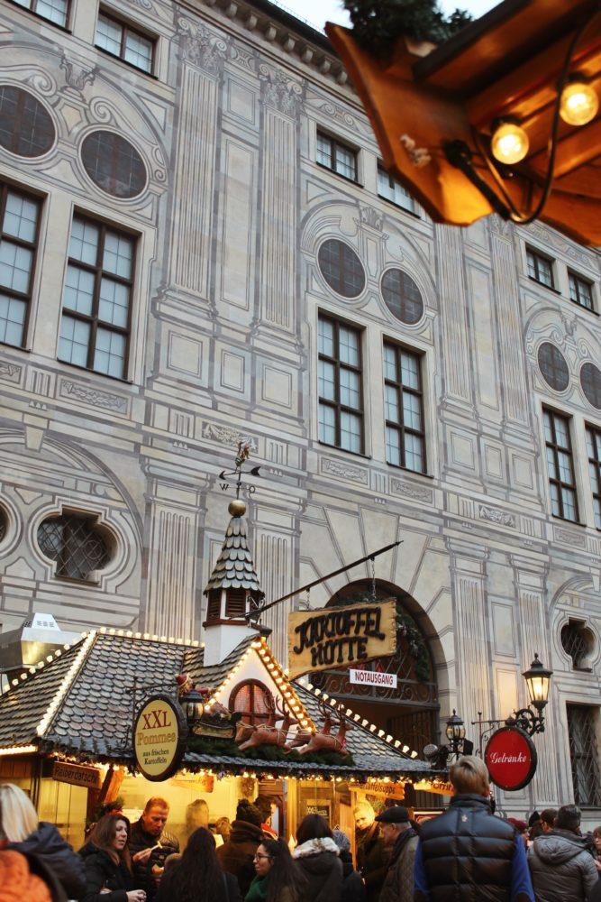 Munich Christmas Market, Germany. Residenz München