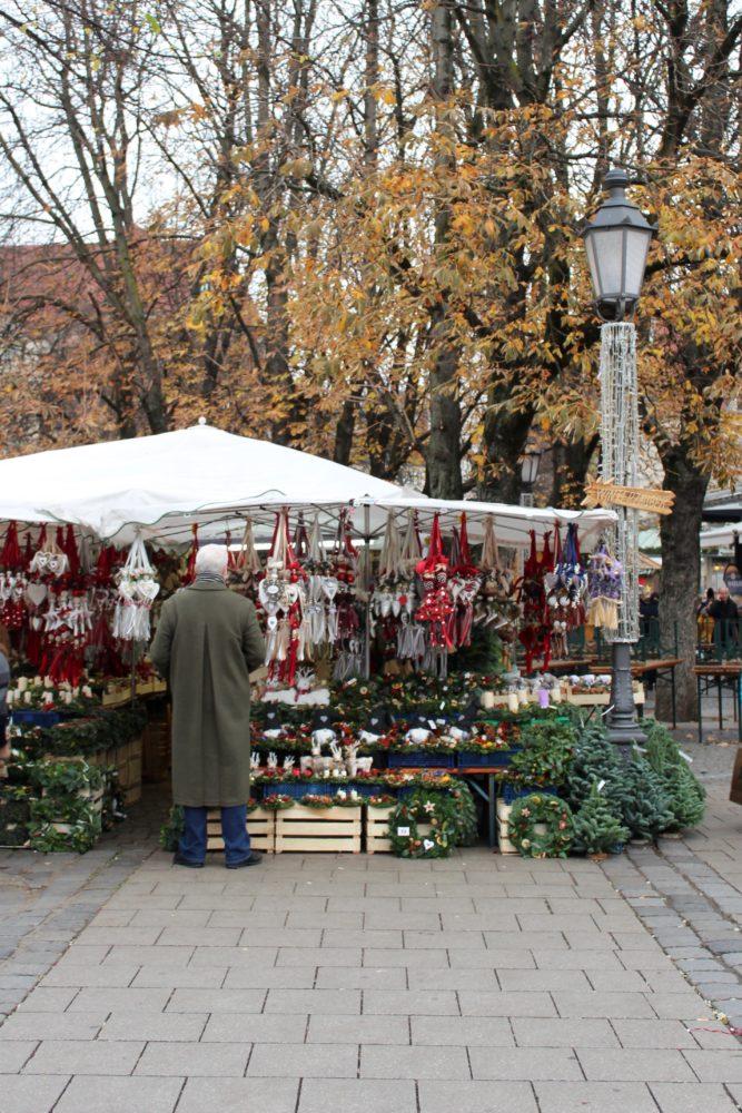 Viktualienmarkt. Victuals Market, Munich