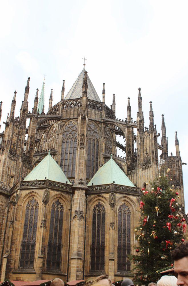 Prague Christmas Market. Castle