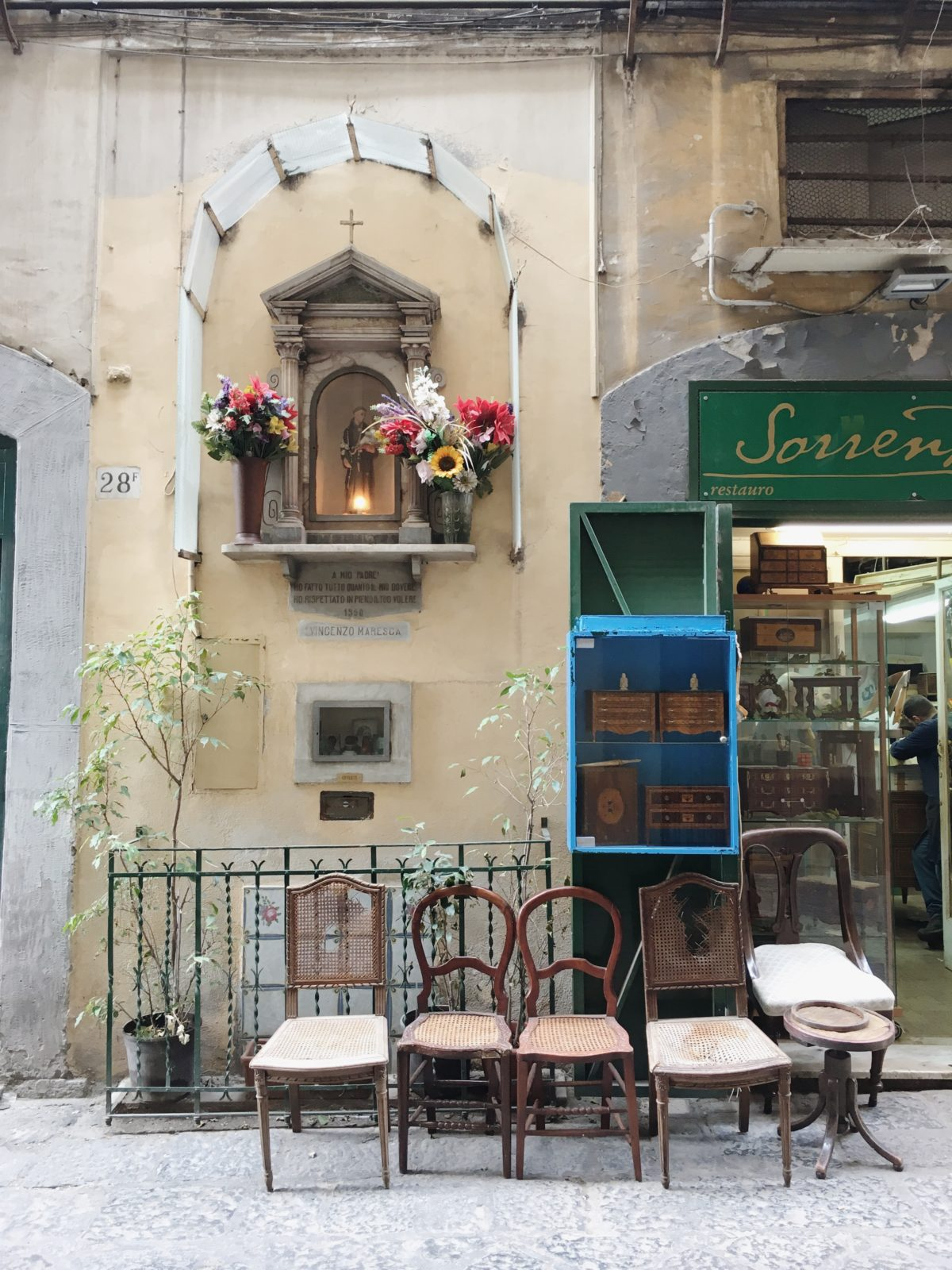 Antiques in Naples, Italy.