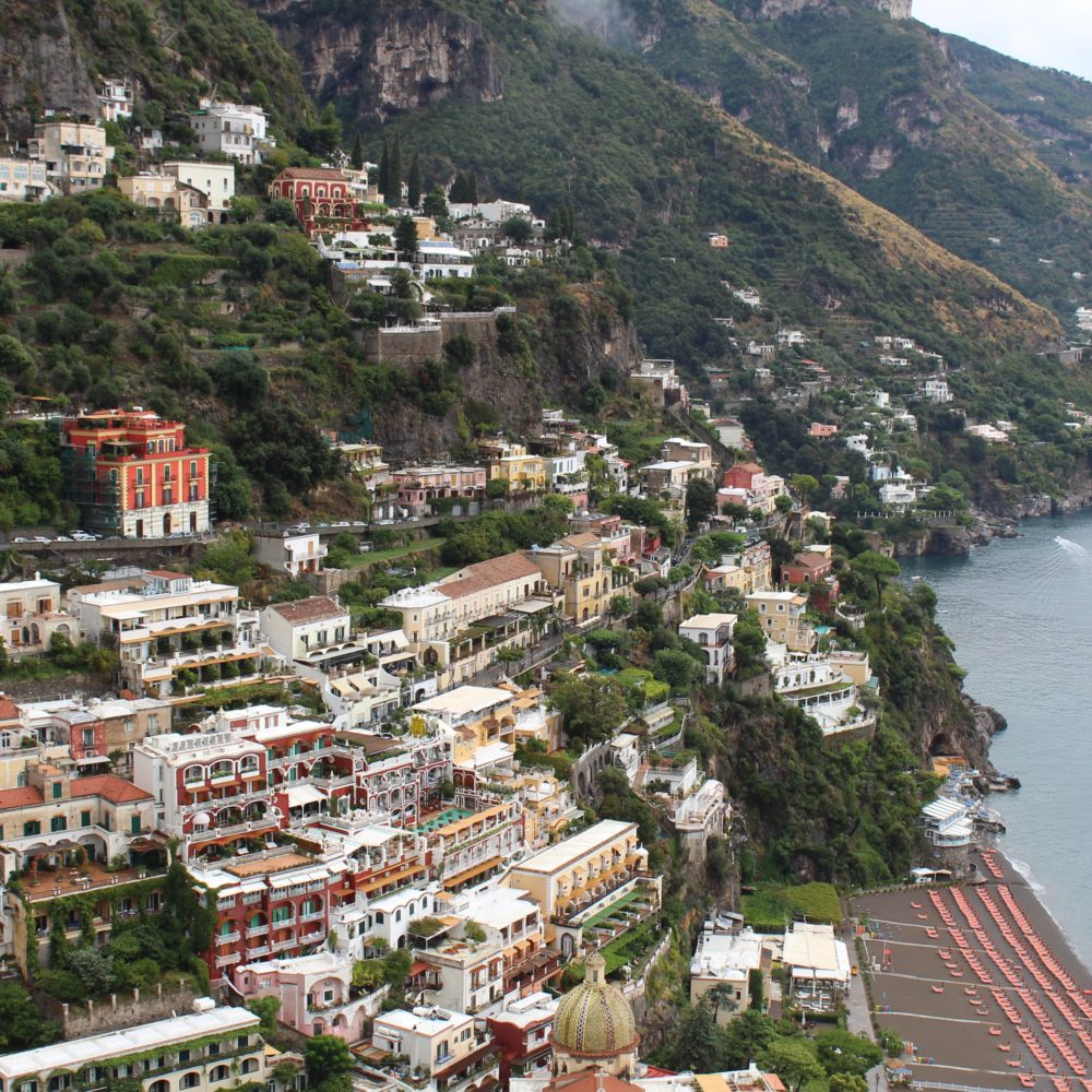 Positano. Places to visit from Naples, Italy.