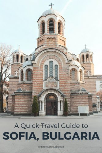 Travel guide to Sofia Bulgaria