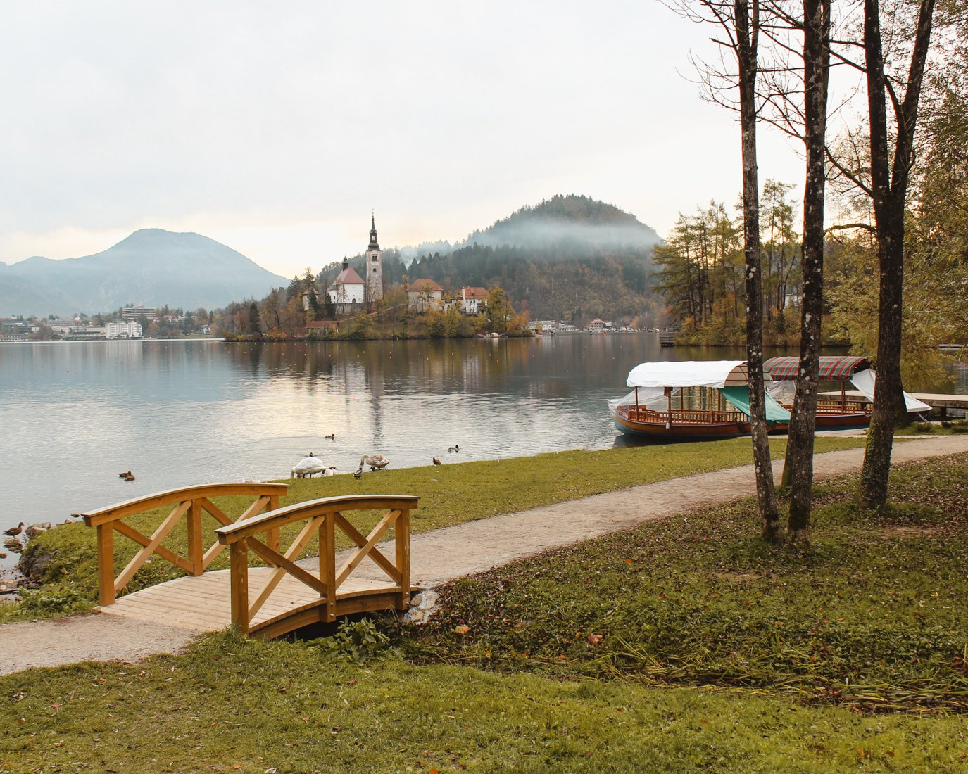 Lake Bled in the Fall-