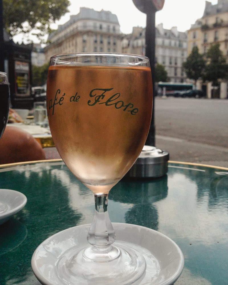 Rose at Cafe de Flore