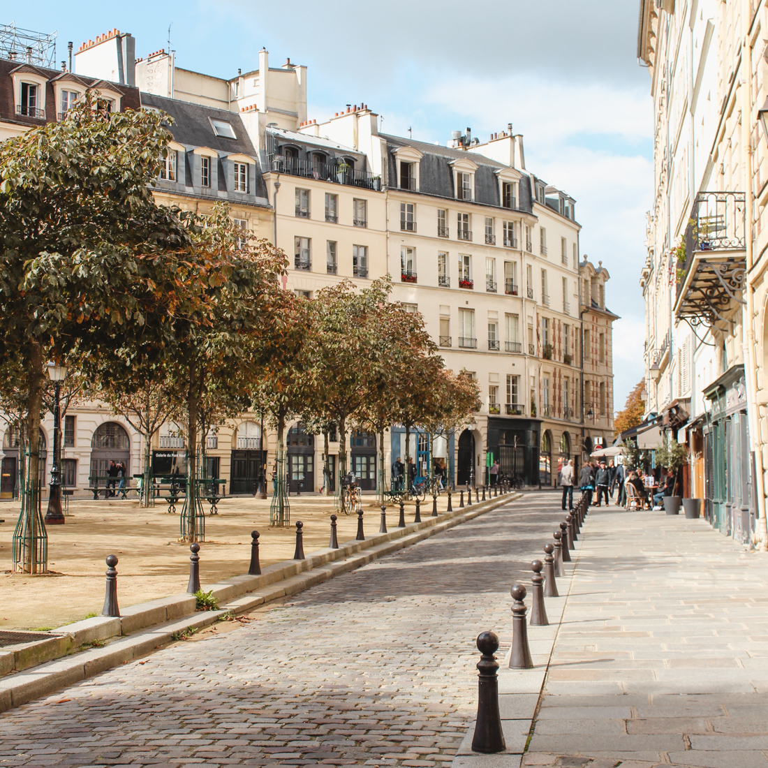 Place Dauphine- layover in Paris