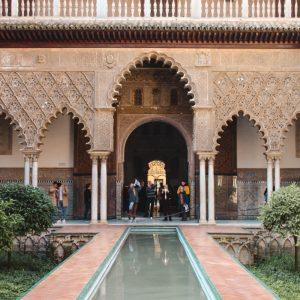 Things to do in Seville. Alcázar of Seville, Spain.