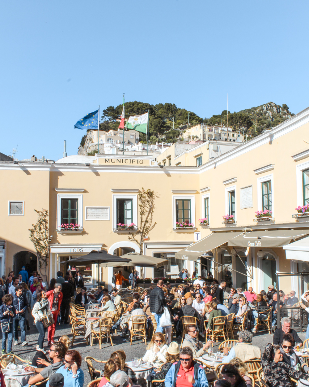 Islands in Italy Capri Piazza-