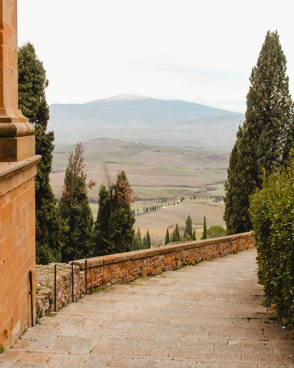 Winter in Tuscany-Pienza
