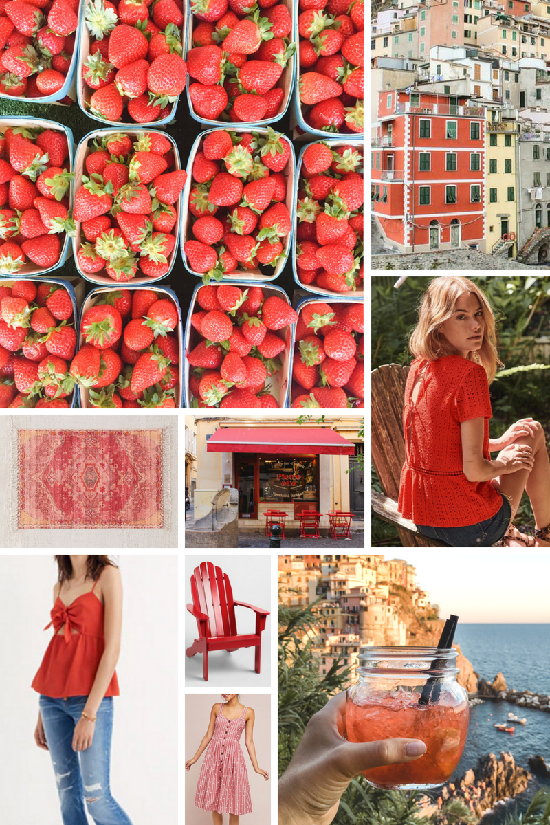 Red mood Board