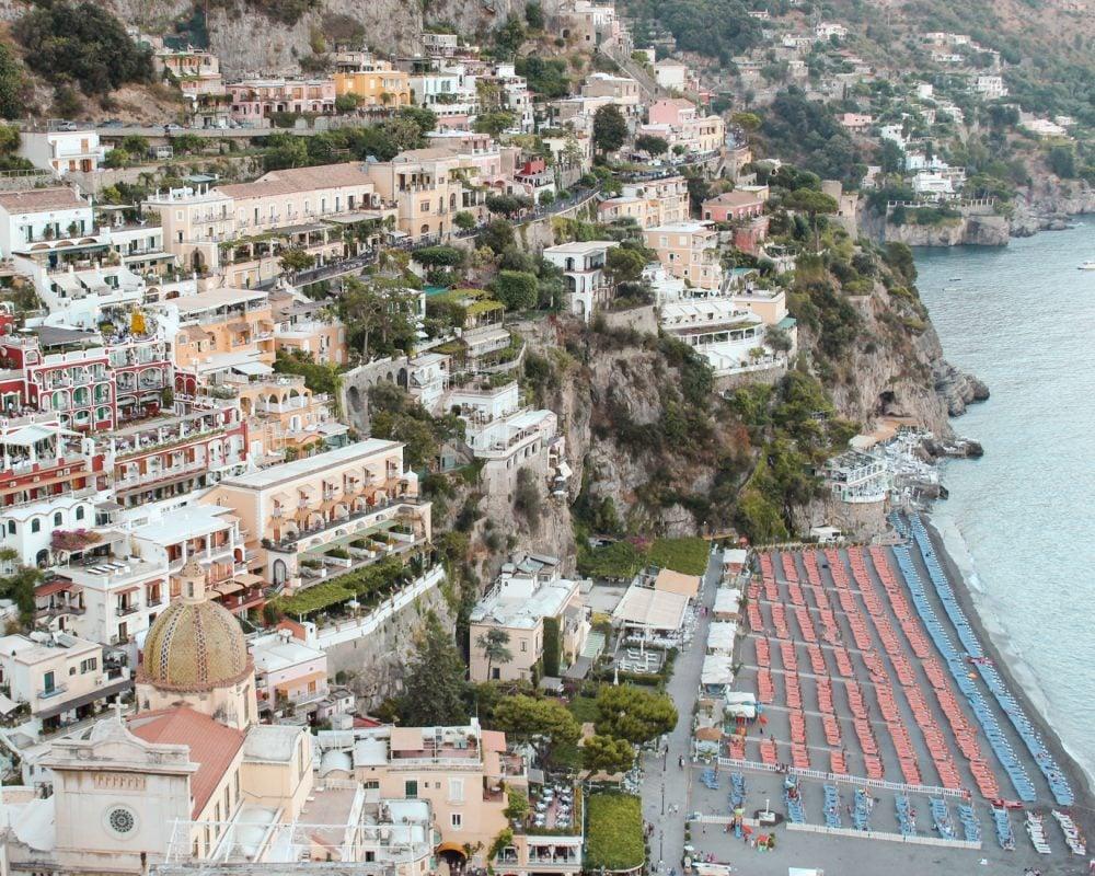 View of Positano from Hotel Casa Albertina