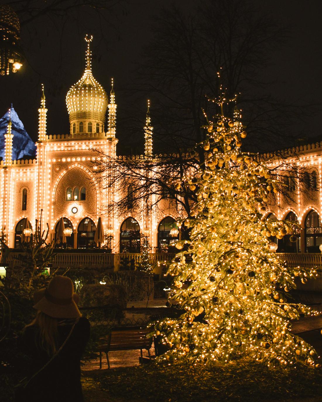 Christmas Market in Tivoli Garden, Copenhagen
