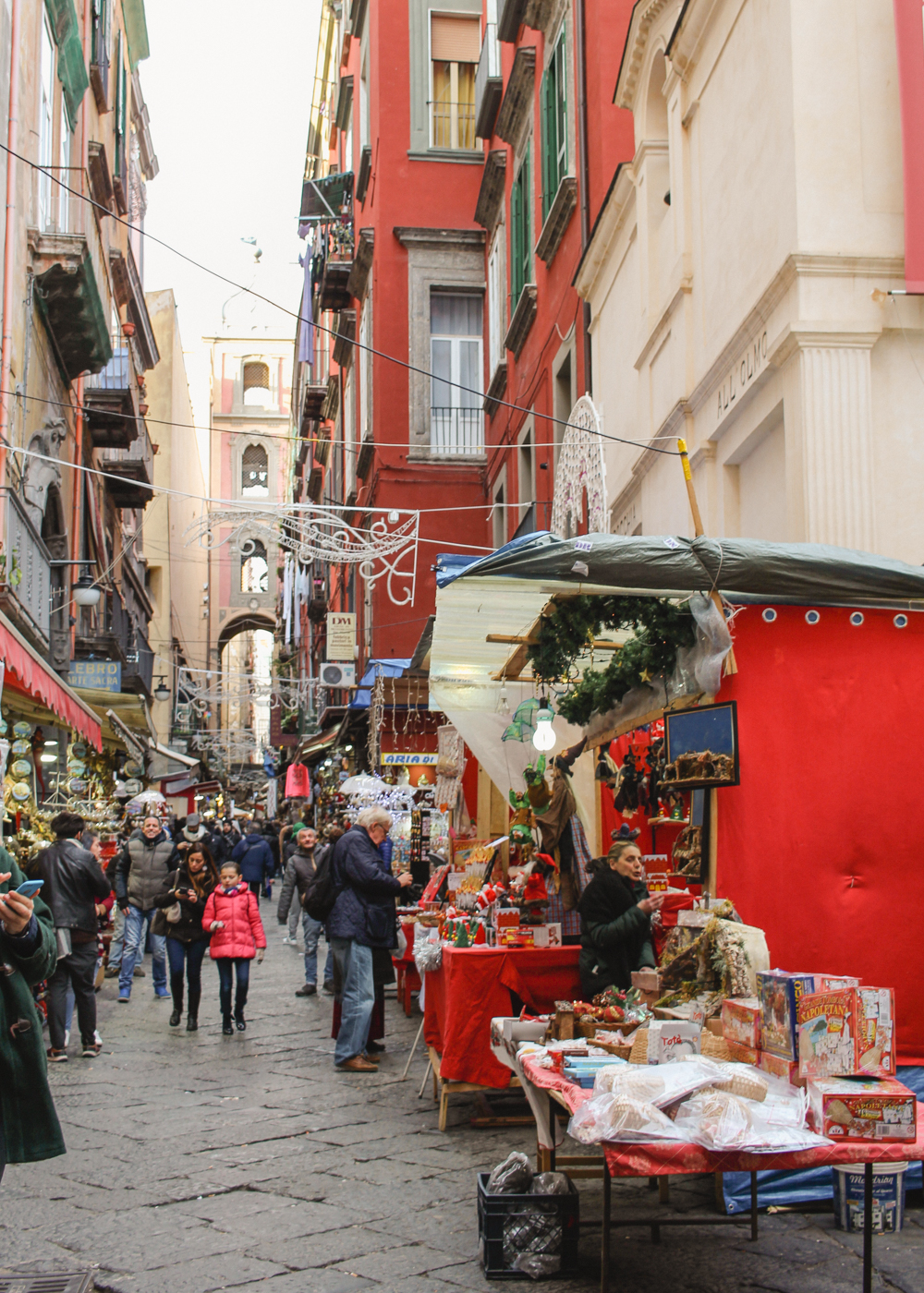 Christmas Alley in Naples, Italy -3
