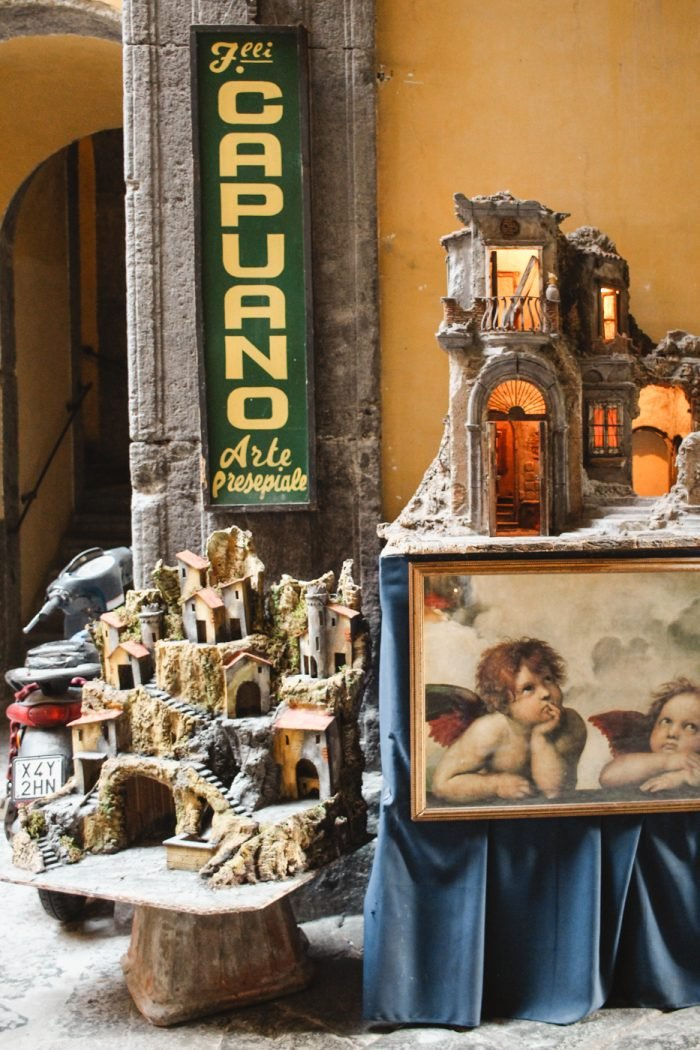 Visiting Christmas Alley in Naples, Italy