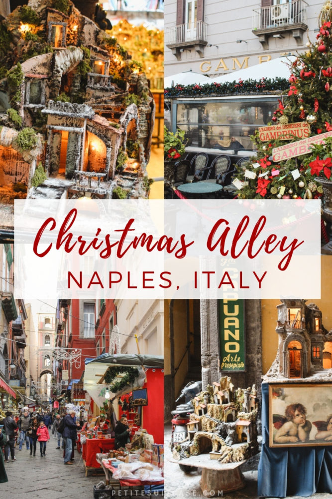 Christmas Alley in Naples, Italy