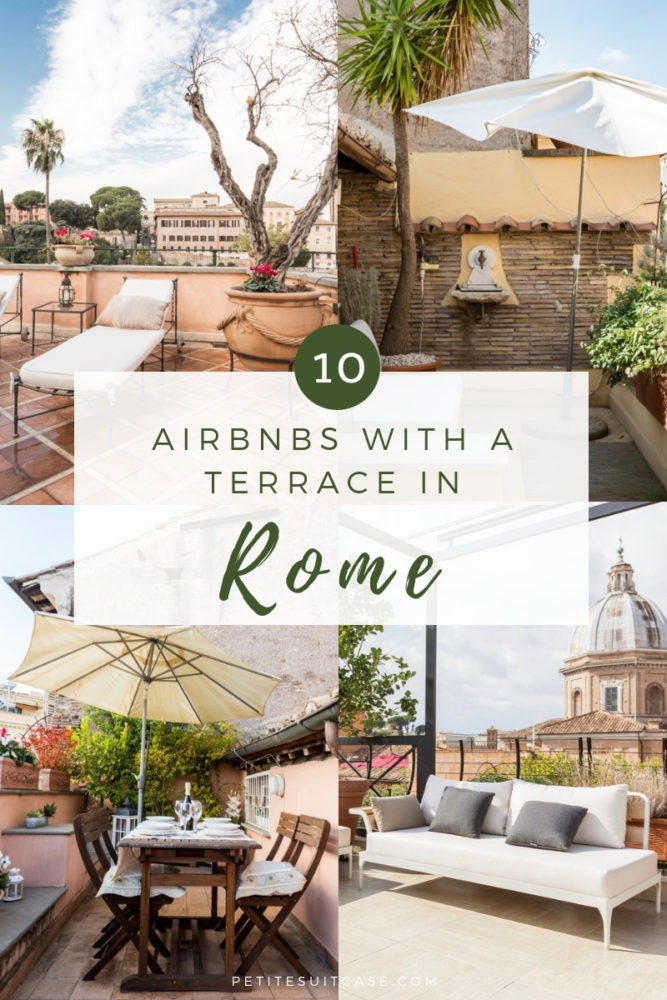 Top Airbnbs in Rome with a terrace | Where to stay in Rome | #italy #travel