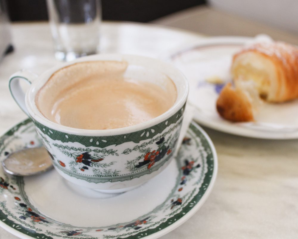 Coffee at Gambrinus in Naples