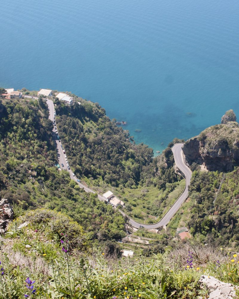 Amalfi Coast Winding Road