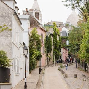 Montmartre Hill in Paris, France