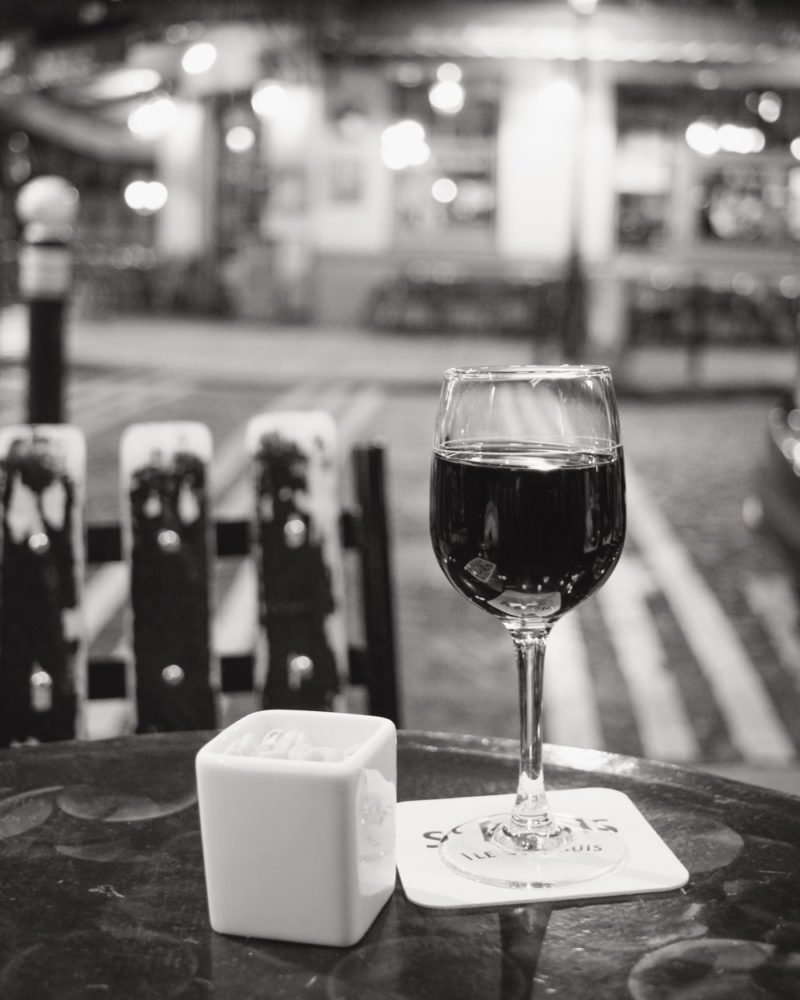 Paris Travel Guide | Glass of Wine at Cafe