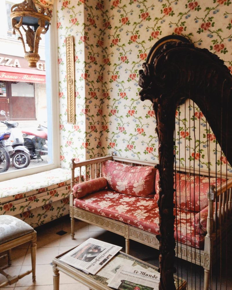 Where to Stay in Paris | Floral Hotel Lobby in La Marais