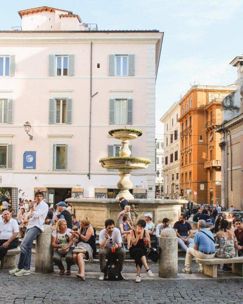 People in Piazza della Madonna dei Monti