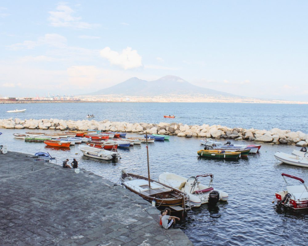 View of Vesuvius in Naples