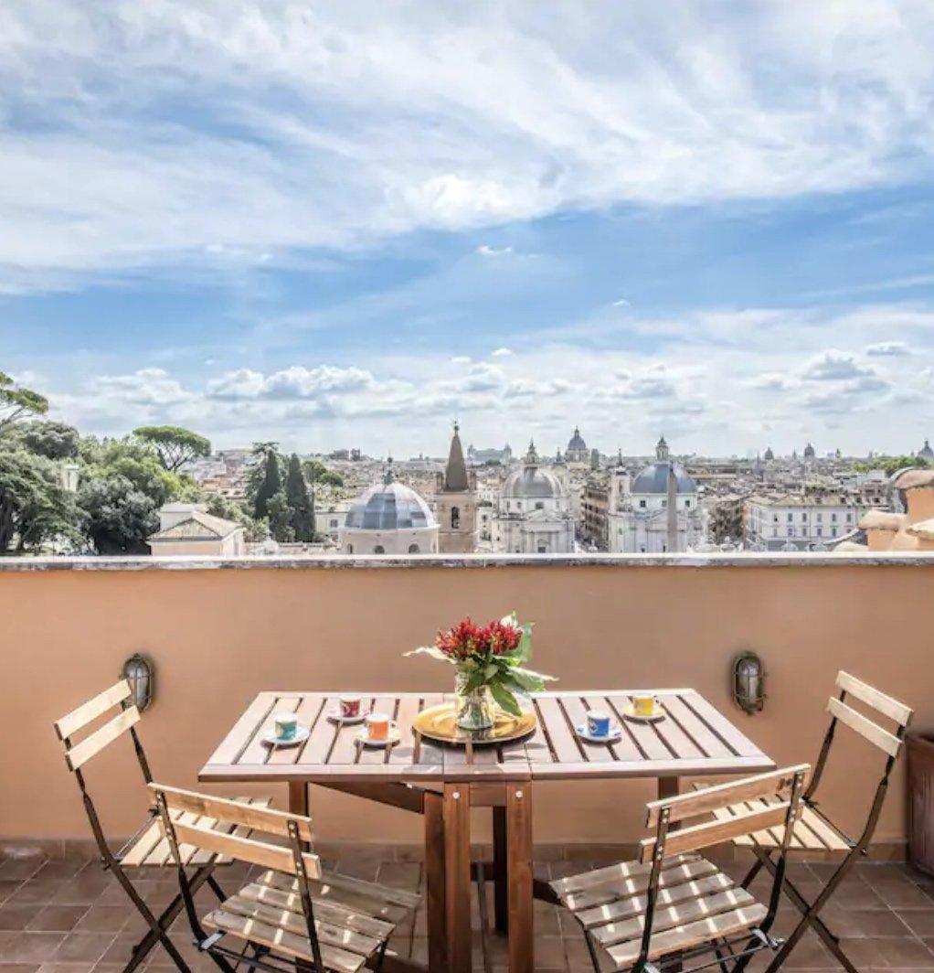 Terrace apartment in Piazza del Popolo