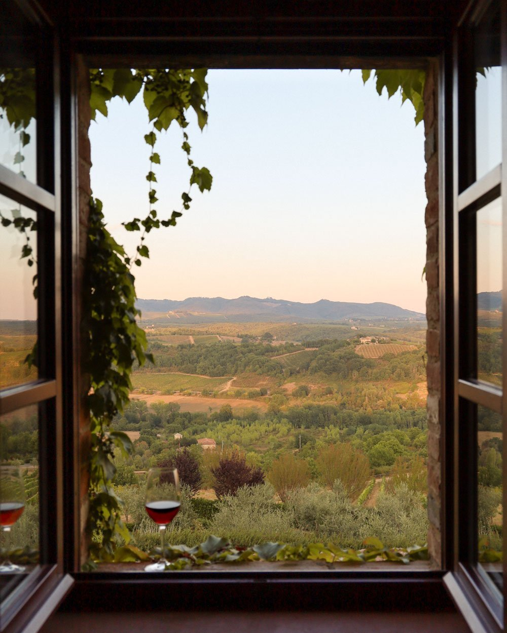 View from a window in Tuscany