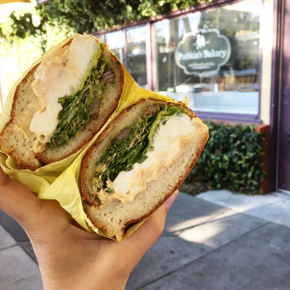 Pushkins. Sacramento, California. Breakfast Sandwich.