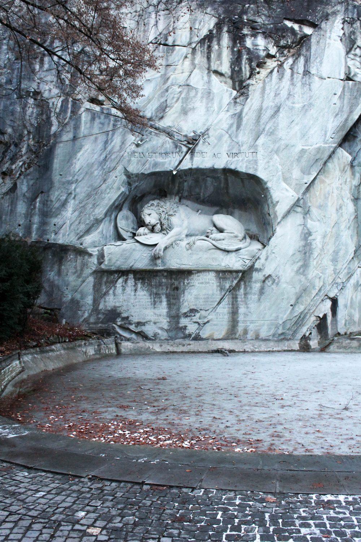Löwendenkmal. Lion Monument in Lucerne, Switzerland.