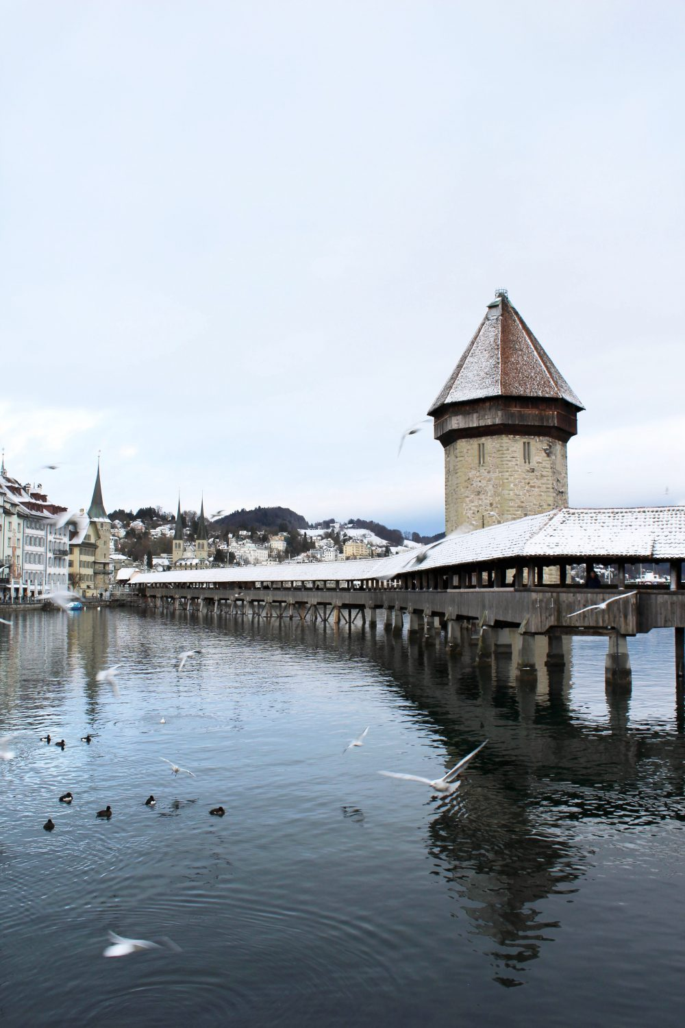 Chapel bridge. Lucerne Switzerland